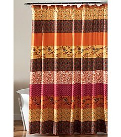Lush Decor Royal Empire Tangerine Shower Curtain