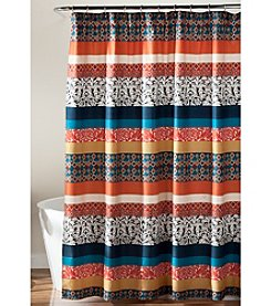 Lush Decor Boho Stripe Shower Curtain
