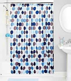 Bath Bliss Circles Shower Curtain and Hook Set