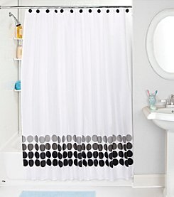 Bath Bliss Faded Circles Shower Curtain and Hook Set