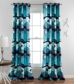 Lush Decor Sea Life Room Darkening Window Curtain