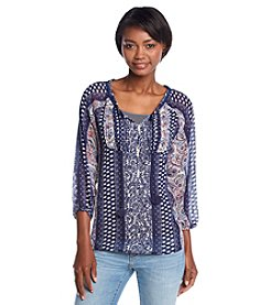 Hippie Laundry Paisley Print Peasant Top