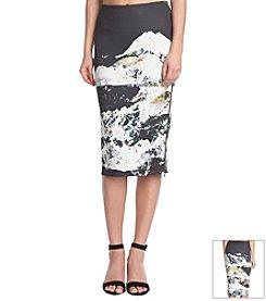 KIIND OF Printed Midi Skirt