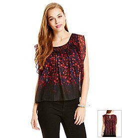 Jessica Simpson Flutter Peasant Top