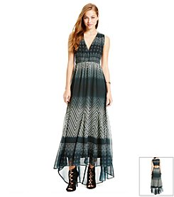 Jessica Simpson Geo Tile Print Maxi Dress