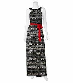 A. Byer Geo Print Maxi Dress