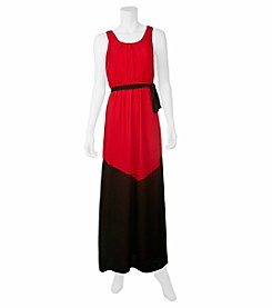 A. Byer Colorblock Maxi Dress