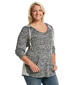 Chance or Fate® Plus Size Crochet Hacci Hoodie