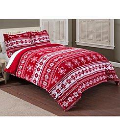 LivingQuarters Fair Isle Micro Cozy Comforter or Shams