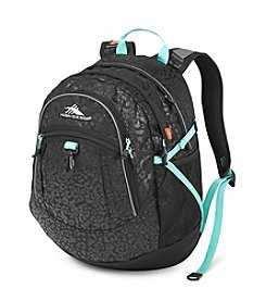High Sierra® Black and Aqua Leopard Fatboy Backpack