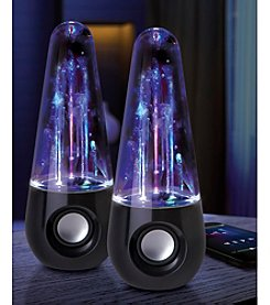 Sharper Image Set Of 2 LED Dancing Water Bluetooth Stereo Speakers
