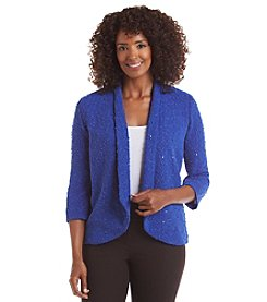 Alfred Dunner® Petites' Keep It Modern Sequin Boucle Jacket