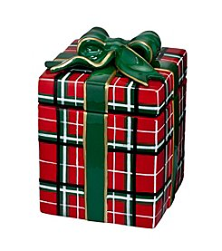 Waterford® Plaid Cookie Jar