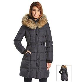 DKNY® Three-Quarter Down Coat With Inner Bib