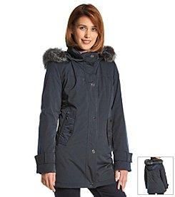 Gallery® Faux Silk Blouson Coat