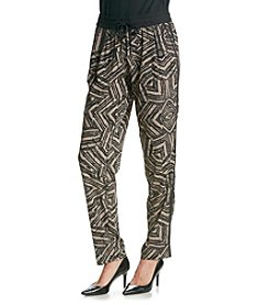 Calvin Klein Printed Tapered Pants