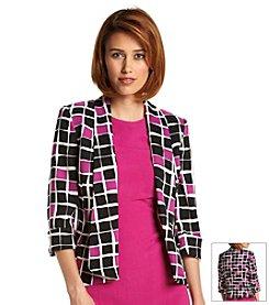 Kasper® Square Print Cardigan Jacket