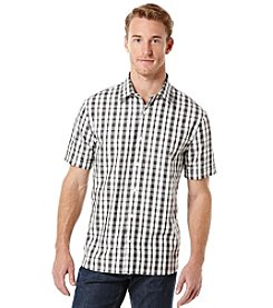 Perry Ellis® Men's Short Sleeve Check Plaid Button Down