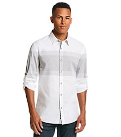 DKNY JEANS® Men's Long Sleeve Engineered Chest Button Down