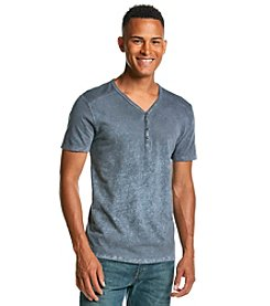 DKNY JEANS® Men's Short Sleeve Henley Spray Wash Tee