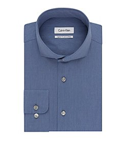 Calvin Klein Men's Regular Fit Solid Button Down Dress Shirt