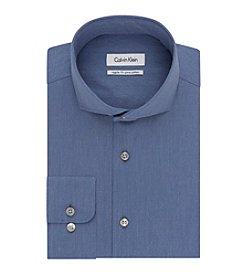 Calvin Klein Men's Regular Fit Solid Button Down Dress Shirt