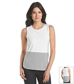 MICHAEL Michael Kors® Zip Shoulder Color Block Tank
