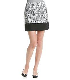 MICHAEL Michael Kors® Print Blocked Mini Skirt
