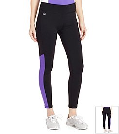 Lauren Active® Mesh-Insert Leggings