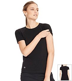 Lauren Active® Mesh-Paneled Crewneck Tee