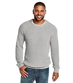 John Bartlett Consensus Men's Long Sleeve Shaker Knit Crew Neck Sweater