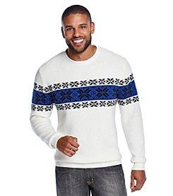 John Bartlett Consensus Men's Long Sleeve Snowflake Chest Crewneck Sweater