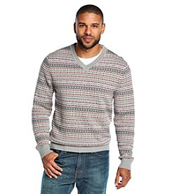 John Bartlett Consensus Men's Long Sleeve All Over Fair Isle V-Neck Sweater