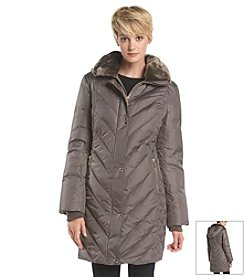 MICHAEL Michael Kors® Diamond Side Three-Quarter Down Coat