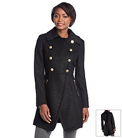 GUESS® Double-Breasted Boucle Walker Coat