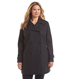 Anne Klein Plus Size Double-Breasted Walker