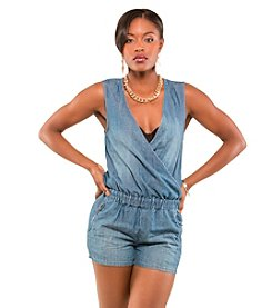 Poetic Justice® Mika Cross-Over Short Romper