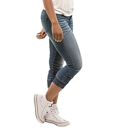 Suzzie Crop Elastic Bottom Skinny Jeans