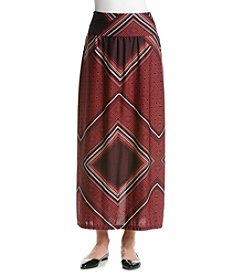 Notations® Geometric Print Skirt