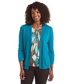 Alfred Dunner® Colorado Springs Diamond Layered Look Sweater
