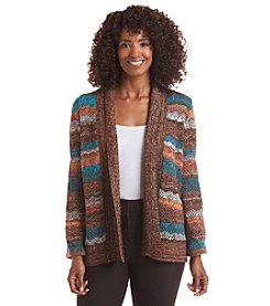 Alfred Dunner® Colorado Springs Space Dye Cardigan Sweater