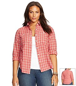 Lauren Jeans Co.® Plus Size Plaid Button-Down Shirt
