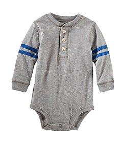 OshKosh B'Gosh® Baby Boys' 6-24M Varsity Henley Bodysuit