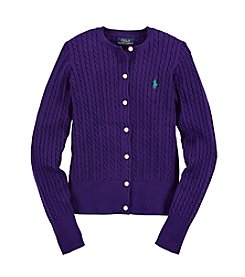 Ralph Lauren Childrenswear Girls' 7-16 Long Sleeve Cardigan