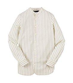 Ralph Lauren Childrenswear Girls' 7-16 Multi Stripe Shirt