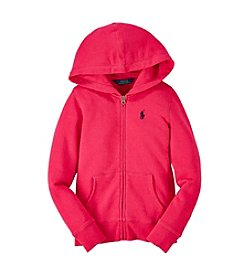 Ralph Lauren Childrenswear Girls' 7-16 Fleece Hoodie
