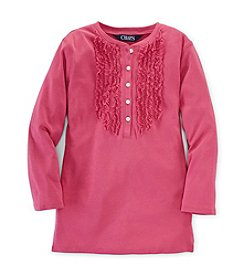 Chaps® Girls' 7-16 Ruffle Front Top