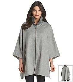 DKNY® Knit Collar Zip Cape