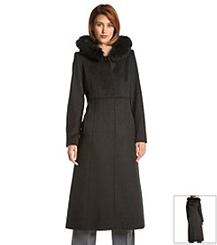 Forecaster Long Coat With Real Fur Trimmed Hood