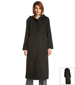 Forecaster Long Coat With Velvet Lined Hood